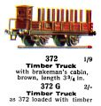 Timber Truck, 00 gauge, Märklin 372 372G (Marklin00CatGB 1937).jpg