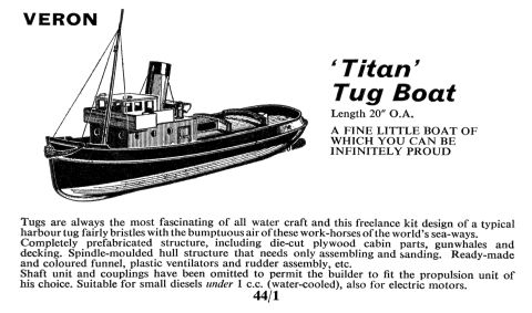 ... steam tug (Chris Littledale, Veron) - The Brighton Toy and Model Index