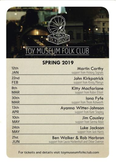 2019: Spring 2019 events at the Toy Museum Folk Club