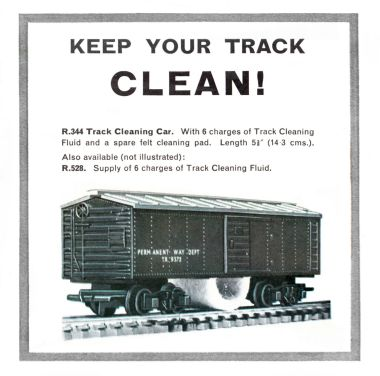 1962: Track cleaning car