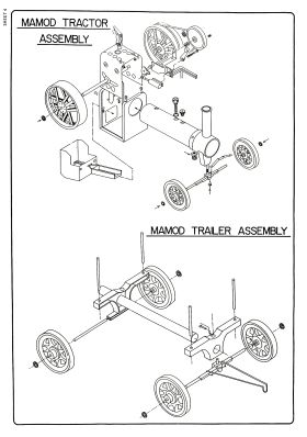 Mamod Traction Engine and Trailer kit, assembly diagram
