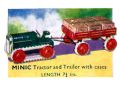 Tractor and Trailer with Cases, Triang Minic (MinicCat 1937).jpg
