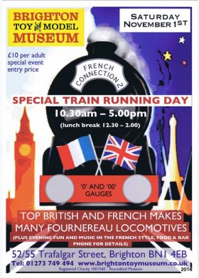 Train Running Day flyer