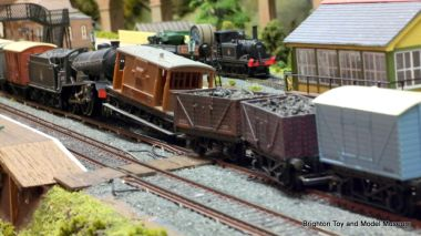 An unexpected (and disconcertingly realistic-looking) train crash on the restored layout, 2014