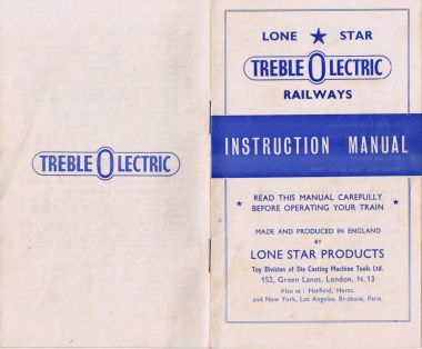Treble-O-Lectric Instruction manual