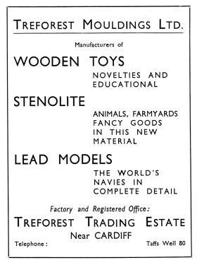 1937: Advert in Games and Toys, July