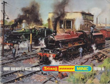 "1970: Tri-ang Hornby catalogue, Edition 16, ""Model Railways and Motor Racing"", with artwork by Terence Cuneo"