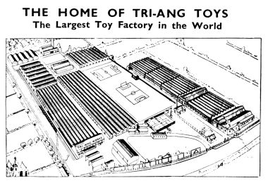 "1937: ""The Home of Tri-ang Toys"", ""The Largest Toy Factory in the World"""