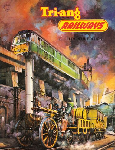 1965: Eleventh Edition of the Tri-ang Railways catalogue. This was the final Tri-ang Railways catalogue, later the same year the company put out a brochure announcing that the range was being merged with that of Hornby Dublo, to create Tri-ang Hornby