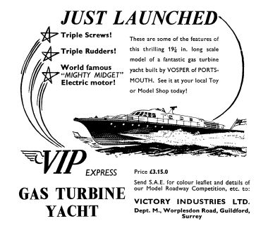 "1961: ""Just Launched"", advert in Meccano Magazine"