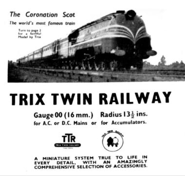 "Trix promotional material on ""The world's most famous train"