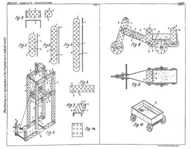 1930: Trix patent application, showing a suggested method of incorporating a matchbox