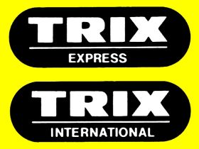 """Trix Express"" and ""Trix International"" logos used after WW2 on model railways produced in West Germany"