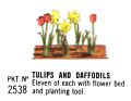 Tulips and Daffodils, Britains Floral Garden 2538 (Britains 1966).jpg