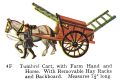 Tumbrel Cart, with Farm Hand and Horse, Britains Farm 4F (Britains 1958).jpg