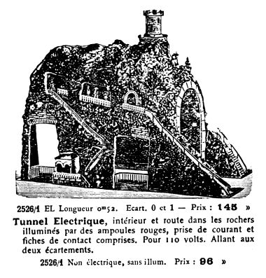 ~1921: Ornate electric railway Tunnel, Märklin 2526