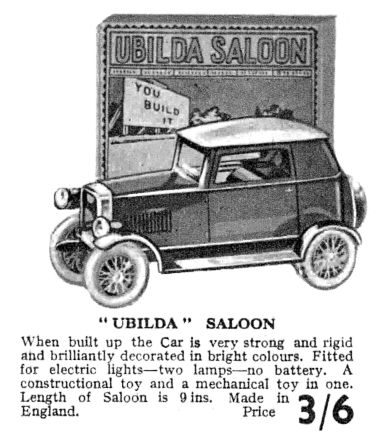 1932: Ubilda Saloon Car, catalogue listing