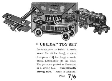 1932: Ubilda Toy Set catalogue listing