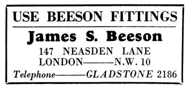 "1931: ""Use Beeson Fittings"""