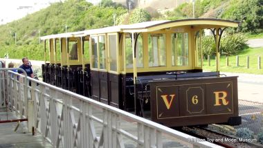 The Volks Electric Railway, the world's oldest public electric passenger railway (1883), and still going strong