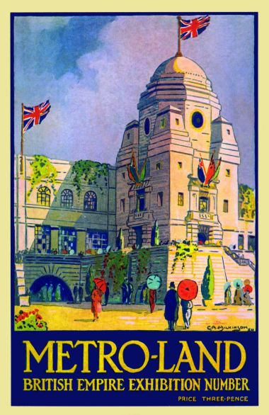 1924 edition of Metroland, artwork by C.A. Wilkinson