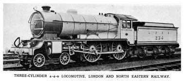 The actual 4-4-0  LNER 234 Yorkshire locomotive