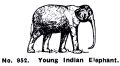 Young Indian Elephant, Britains Zoo No952 (BritCat 1940).jpg