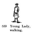 Young Lady, walking, Britains Farm 559 (BritCat 1940).jpg