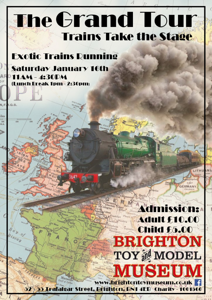 The Grand Tour, Train Running Day, Saturday 16th January 2016 (Brighton Toy and Model Museum)